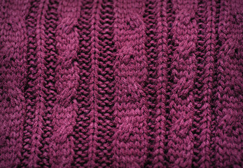 large knitted texture burgundy