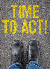 Text on the floor - Time to act