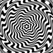 Illusion of  whirl movement. Abstract op art illustration.