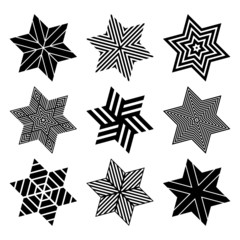 Stars set. Design elements.