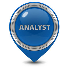 Analyst pointer icon on white background