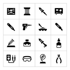 Set icons of soldering