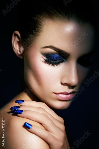Plagát, Obraz Blue Glitter