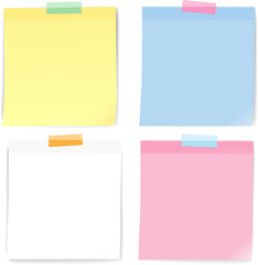 Colorful note paper masking tape, Vector