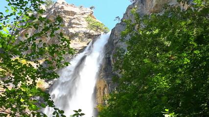 Deep Uchan-su falls on  mountain Ah-Petri