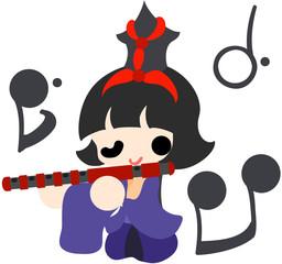 ひな祭り 〜五人囃子 笛〜