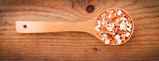 vegeta in wooden spoon