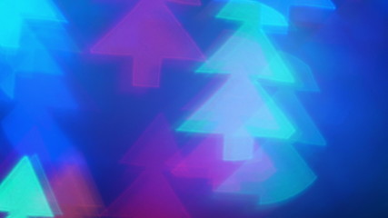 Blurred abstract motion background, fir-tree. 4K UHD footage.