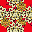 Red mandala seamless wallpaper. Endless ornamental backdrop