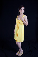 Asian woman looking serious