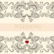 Wedding greeting invitation card with ornament