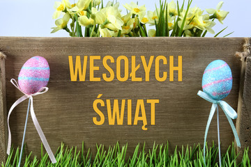 Życzenia Wielkanocne z pisankami