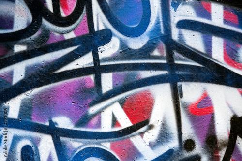 Mur couvert de graffitis Poster