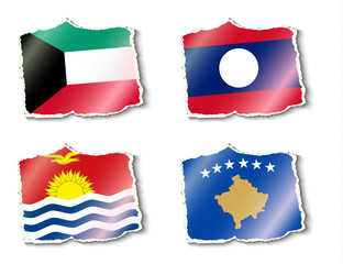 flags of the world, vector illustration