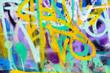 Leinwanddruck Bild - Colorful graffiti wall with spray paint