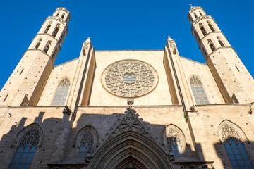 The gothic Santa Maria del Mar church in Barcelona
