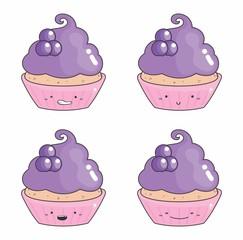 Desenho cupcake emoticons 09