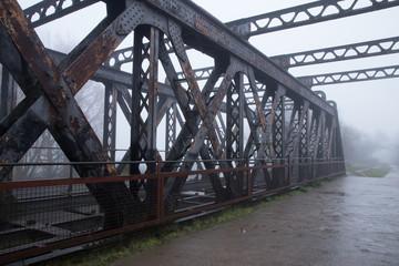 Old Railway Bridge in the mist, Greenway, Stratford-upon-Avon, W