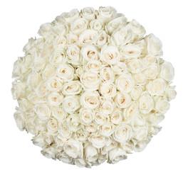 Round shape of roses