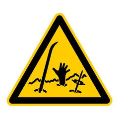 wso139 WarnSchildOrange - avalanche danger Lawinengefahr - g3095
