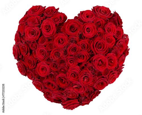 Staande foto Roses Heart shaped bunch