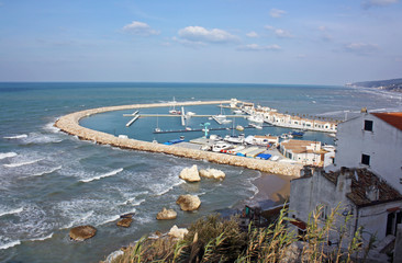 port of Rodi Garganico, Puglia, Italy