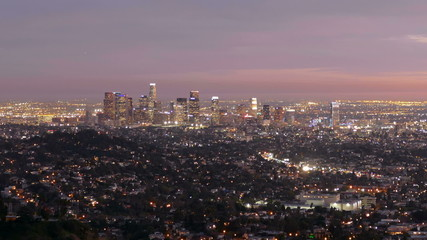 Los Angeles Dusk with Zoom Out