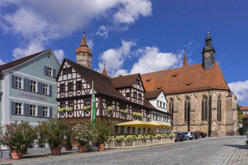 Feuchtwangen is an historic city in Bavaria