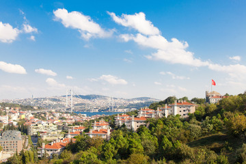 The Bosporus Bridge and Istanbul View