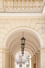 Arch passage of Lviv city hall on Market square