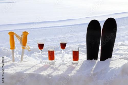 Canvas Wintersporten schneebar