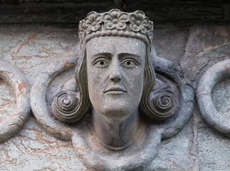 Head sculpture at Stavanger cathedral