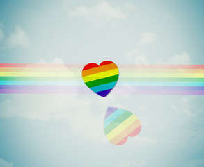 Rainbow hear - Valentine's day.