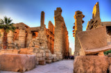 View of the Great Hypostyle Hall in at Karnak - Egypt