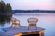 Two Chairs on dock - 77240485