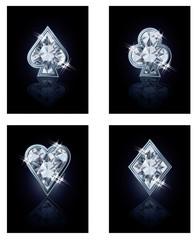 Poker diamonds card, vector illustration