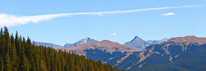 Landscape panorama of beautiful mountain
