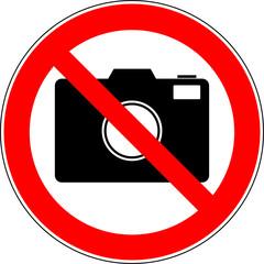 Verbotsschild Fotografie