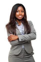Beautiful black businesswoman portrait