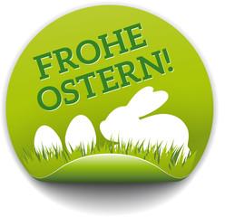 Runder Sticker Frohe Ostern