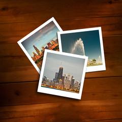 Vintage polaroids of travel memories