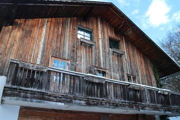 Holzbalkon rustikales Landhaus