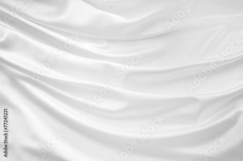 Fotobehang Stof Smooth elegant white silk background