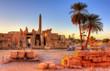 Leinwanddruck Bild - View of the Karnak Temple Complex in Luxor - Egypt