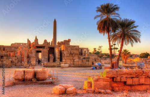 Spoed canvasdoek 2cm dik Egypte View of the Karnak Temple Complex in Luxor - Egypt