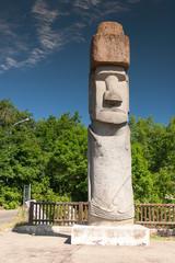 Rapa Nui Statue in Viterbo, Italy