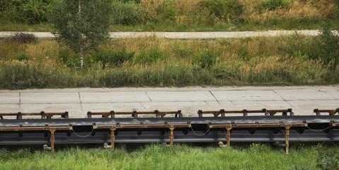 Conveyor belt in open pit.Bogatynia. Poland