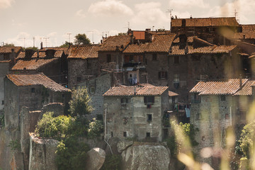 Medieval Houses near Viterbo