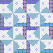 Abstract elegance seamless pattern patchwork background