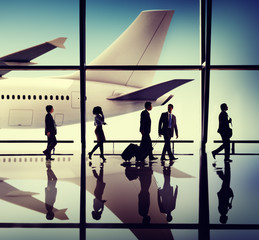 Business People Travel Airport Terminal Concept